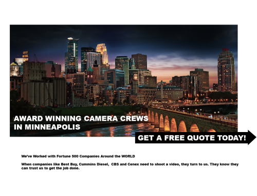 Best Camera Crews in Minneapolis MN